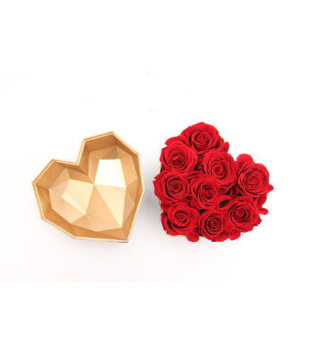 Preserved Red Rose Heart