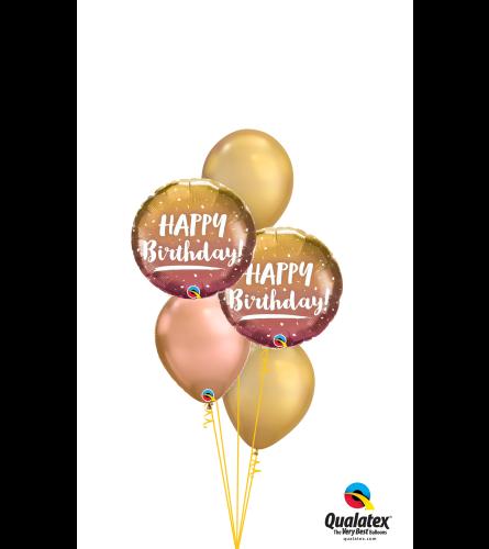 Chrome Birthday Classic Balloon Bouquet