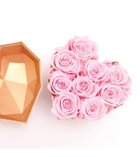 Preserved Pink Rose Heart