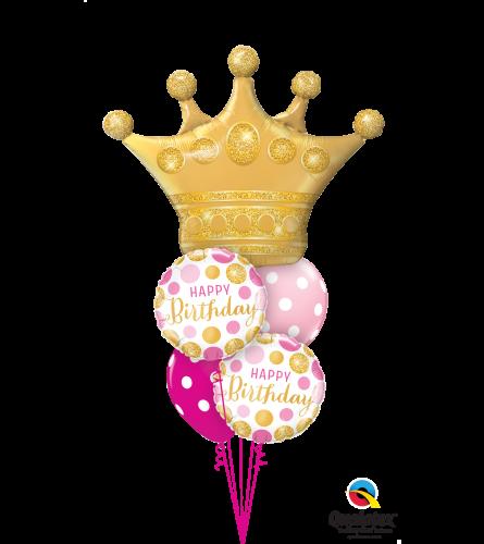 Birthday Queen Cheerful Balloon Bouquet