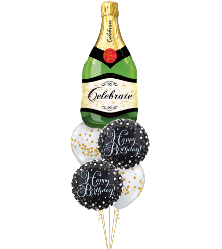 Celebrate Bubbly Cheerful Balloon Bouquet
