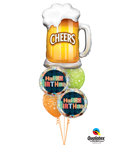 Cheers to Your Birthday Cheerful Balloon Bouquet