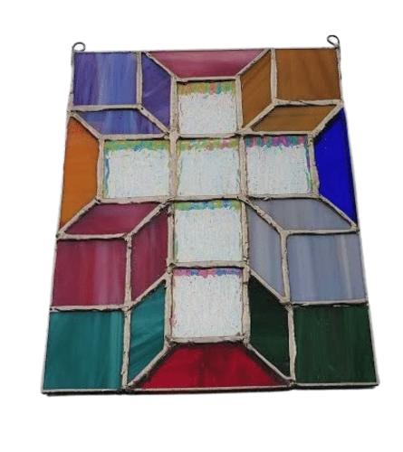 Locally Made Stained Glass Cross Art