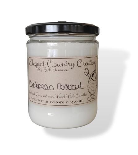 Elegant Country Creations Candle - Caribbean Coconut - Medium