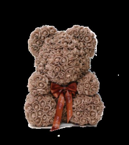 Chocolate Brown Rose Bear