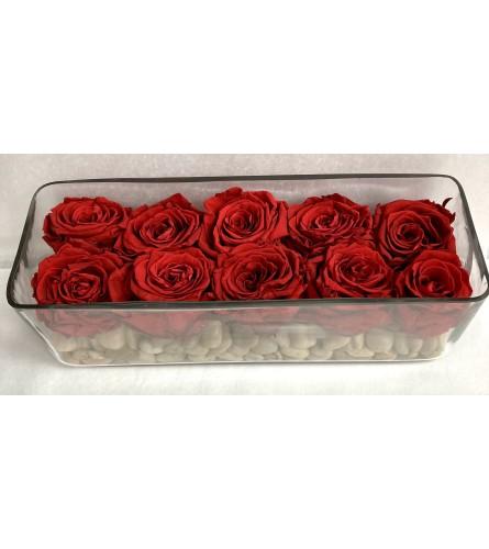 Forever roses in  vase