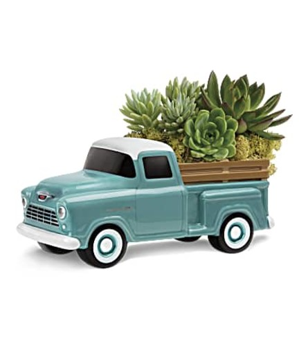 Perfect chevy pick up bouquet