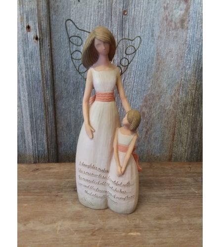 Angel and Girl 'A Daughter makes...'