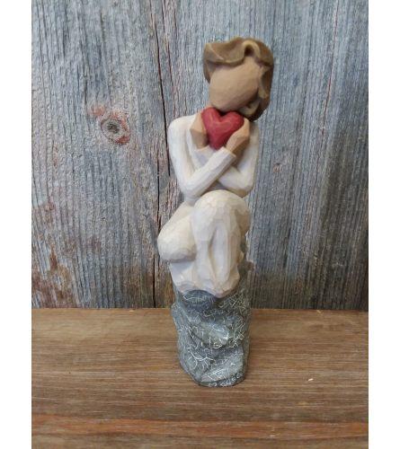 Statue - Willow Tree 'Always' (heart, sitting)
