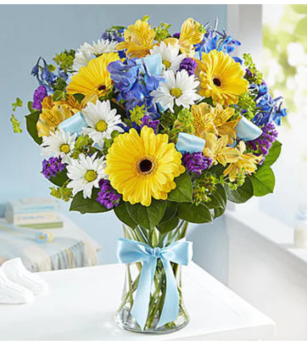 Sweet Baby Boy Floral Arrangement