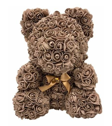 Brown 16inch rose bear with box
