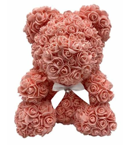 Peach Rose Bear Large 16inch with box