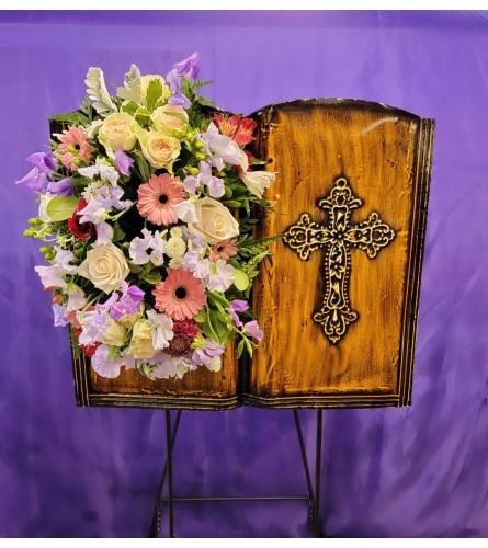 In Loving Memory Cross (standing easel)