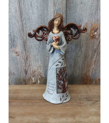 Angel with Bronze Wings (holding heart)
