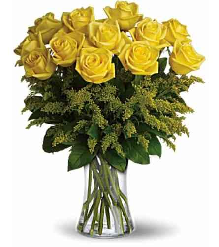 Yellow roses Vased