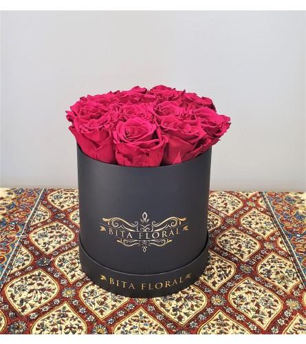 Dozen Hot Fuchsia Eternity Roses