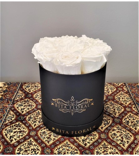 Dozen White Eternity Roses