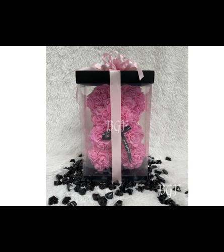 Small Pink Rose Bear Glamour (Artificial Rose Petals)