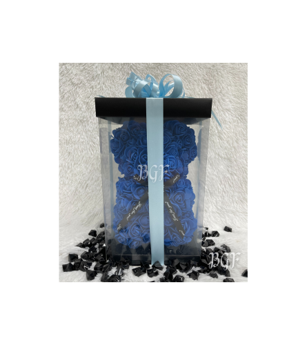 Small Blue Rose Bear Glamour (Artificial Rose Petals)