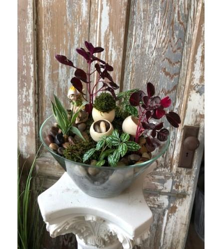 Fairy Garden in Glass Bowl