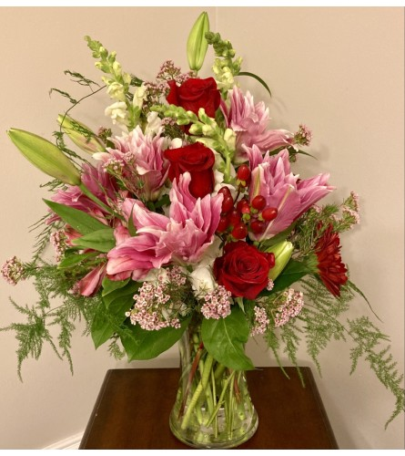 Veronica's Rose Lily Bouquet