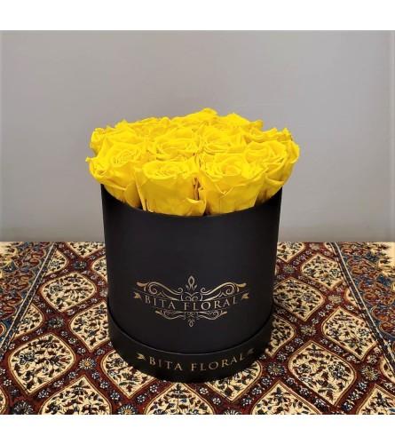 Dozen Yellow Eternity Roses