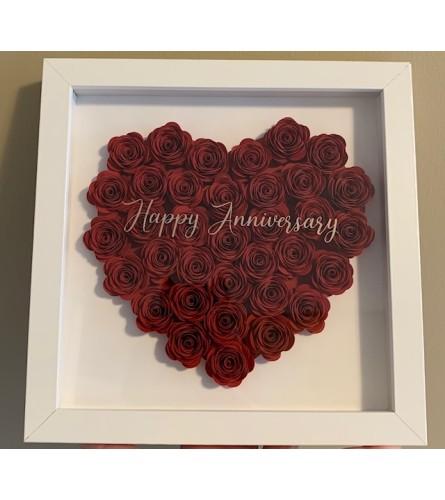 Heart Rose Shadow Box