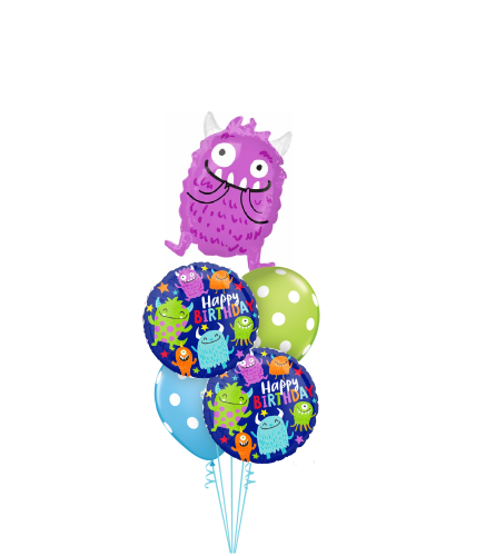 Monster Party Cheerful Balloon Bouquet