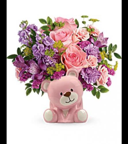 Precious Pink Bear by Teleflora