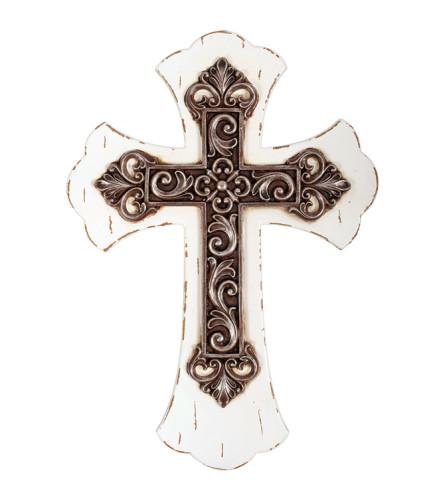 Cross White w/ Antique Bronze