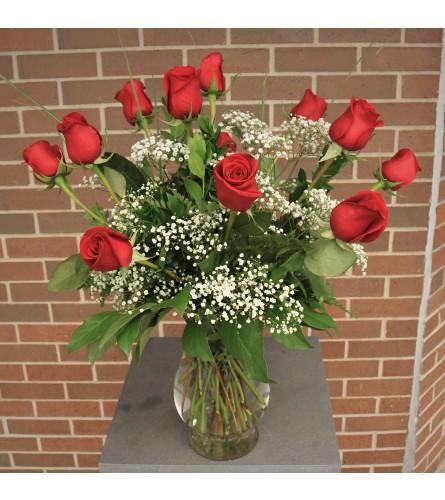Timeless Dozen Red Roses