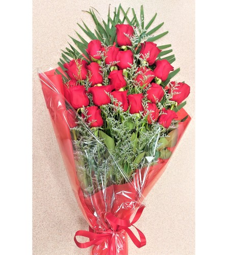 Perfect wrapped Long-Stemmed Red roses by O'Flowers