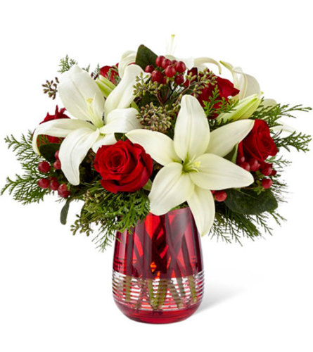 Festive Holiday Bouquet by Vera Wang