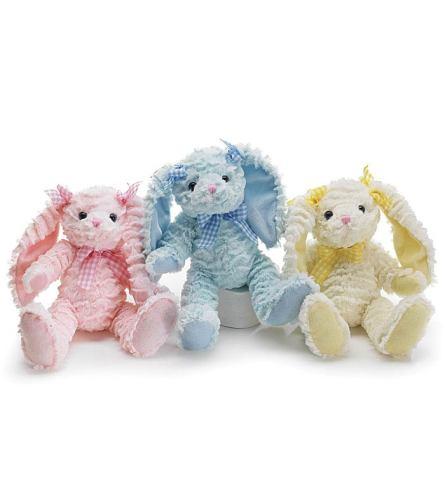 "Plush 11"" Bunny (Pink - Blue - Yellow)"