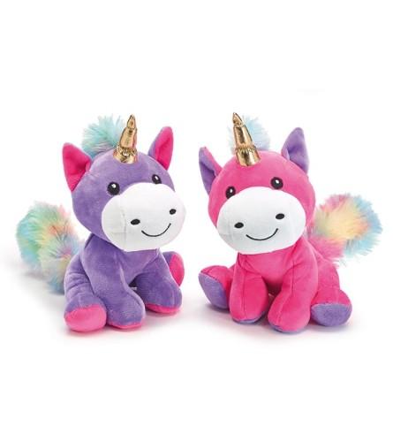 Plush Unicorn w/ Gold Horn (Purple or Pink)