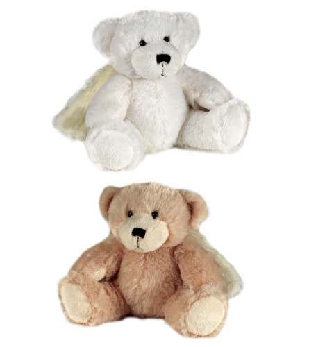 "Plush 10"" Angel Bear w/ Wings (White or Cream)"