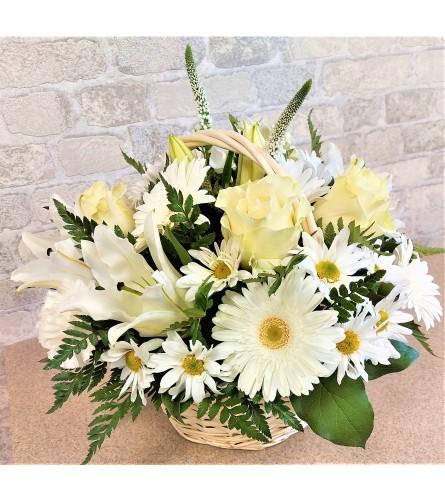 White flowers waltz by O'Flowers