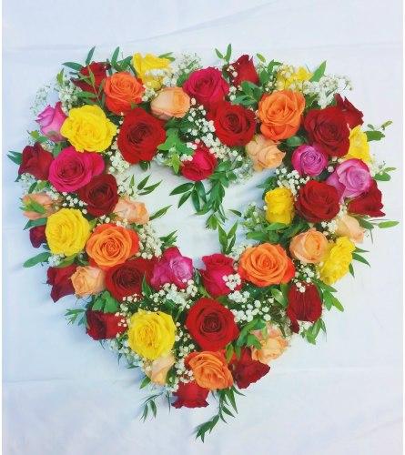 Heart full of 48 Roses