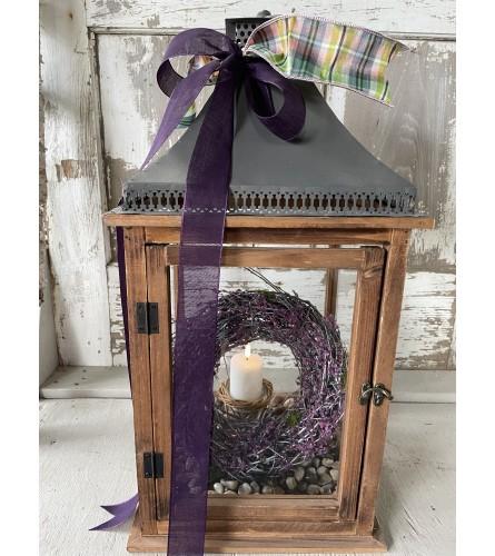 Lavender Wreath Lantern