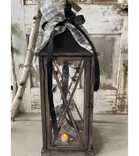 "Dark ""X"" Cotton Lantern (Large)"