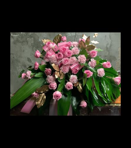 Garden Pink Casket Spray