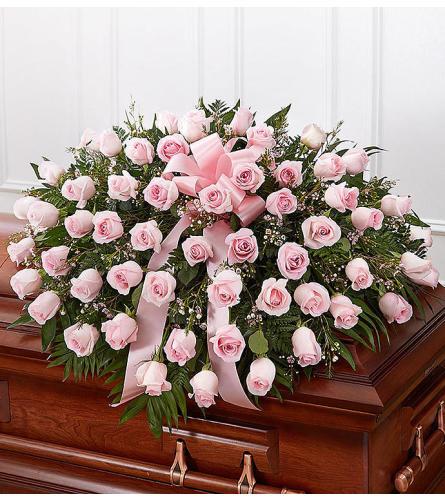 Casket Spray Pink Roses