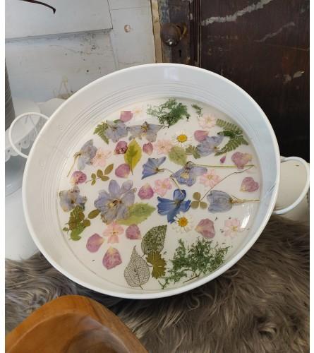 Preserved Flower Decorative Tray