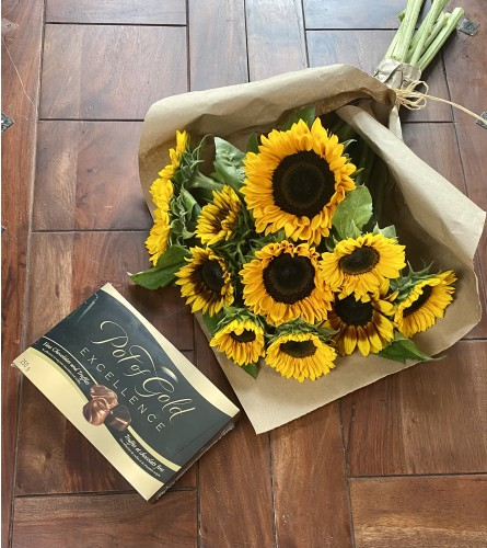 12 Sunflowers with Chocolate