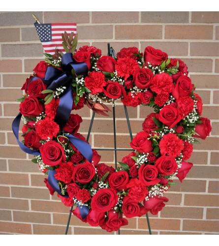 Patriotic Heart Wreath