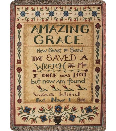 Tapestry Throw - Amazing Grace CSG