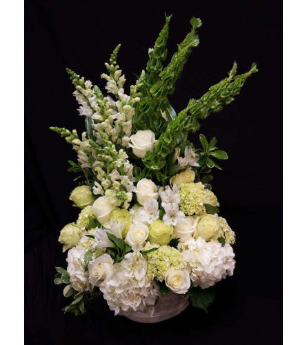 White and Green Serenity Basket