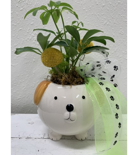Happy Tails Puppy Planter