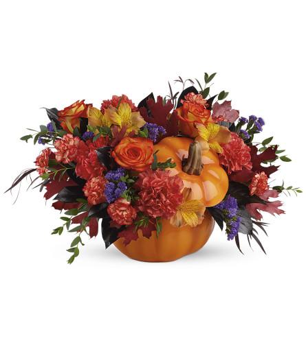 The Hauntingly Pretty Pumpkin Bouquet