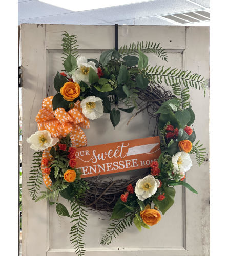 Our Sweet Tennessee Home Vols Grapevine Wreath